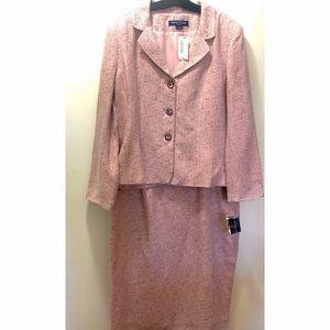 NWT Rena Rowan Tweed 2pieces Skirt Suit 18